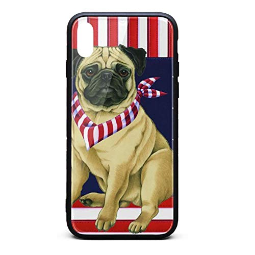 Happy Pug Fest Flag i-Phone Xsmax Case Protective Case Silica Gel Soft for i-Phone Xs max