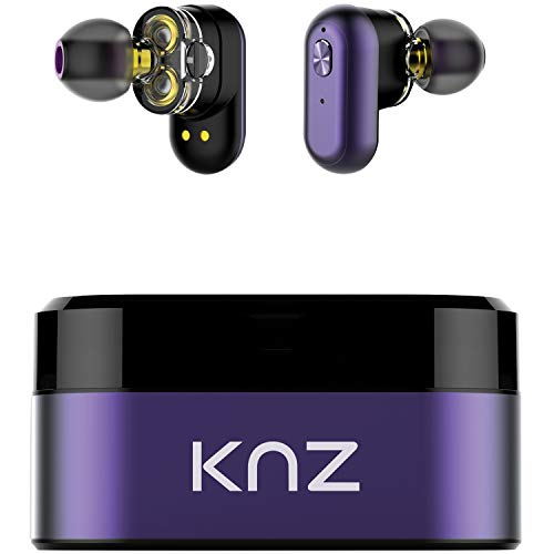 KNZ Technology KNZSNDFLXUVL Soundflux Dual-Driver Truly Wireless in-Ear Stereo Headphones (Violet)