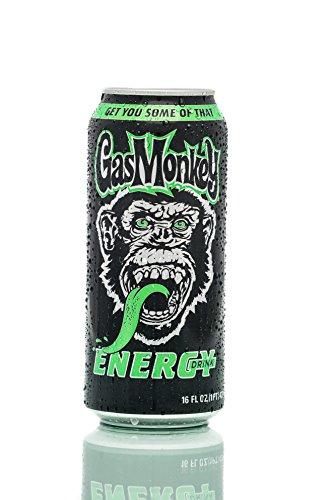 Gas Monkey Energy Drink, Regular, 16 Ounce, 24 Count
