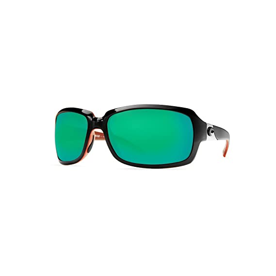 15b8c8bb7197c Costa Del Mar IB 32 Isabela Black Coral Rectangular Sunglasses for ...