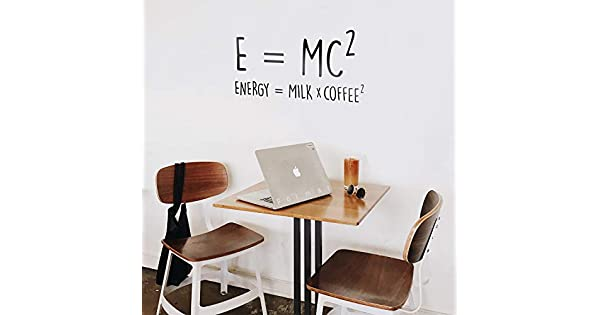 Amazon.com: Vinyl Wall Art Decal - E=MC2 Energy=Milk x ...