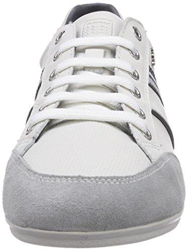 Geox U HOUSTON A - zapatilla deportiva de cuero hombre blanco - Weiß (WHITEC1000)