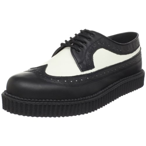 Leather Blk Wht Mens Sneakers - 7