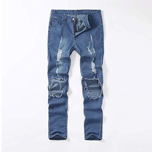 Denim Jeans Ragazzo Pants Uomo Pantaloni Strappati Skinny Stretch Qk lannister Blau x5UqH5wY4