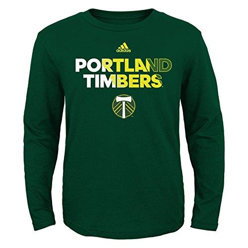 MLS Portland Timbers Youth Boys Short Sleeve Striker Tee, X-Large (18), Ponderosa