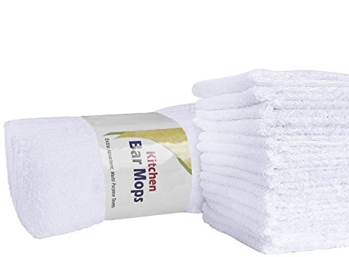 Cleaning Solutions 79105-24 PK 24 Pack Soft Plush Cotton Terry Towels 14 x 17 All Purpose Use, Ideal for Home, Auto and Commercial Cleaning