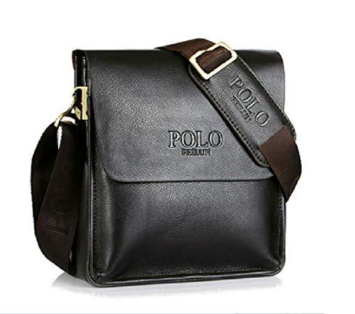 POLO FEILUN Men's Messenger Bag Classic Vintage Genuine Leather Shoulder Bags Crossbody Bags Briefcase Business Composite Leather Casual Bag