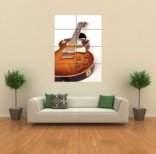Gibson Les Paul Guitar Giant Wall Art Print Poster