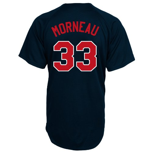 (MLB Minnesota Twins Justin Morneau Full Button Down Synthetic Replica Batting Practice Jersey,X-Large)