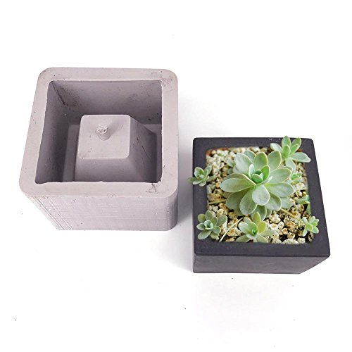 Diy Flower Pot Silicone Mold Succulent Plants Concrete Planter Vase