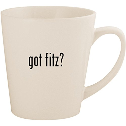 got fitz? - White 12oz Ceramic Latte Mug ()