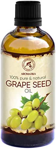 Grapeseed Oil Refined 1.7oz - Vitis Vinifera - Grape Oil 100% Pure & Natural - Body Oil - Intensive Care for Face - Body - Hair - Skin - Massage - Grape Seed Oil
