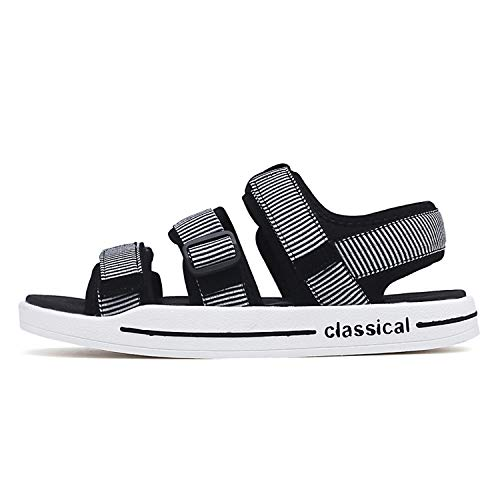 Stay With Me Sandalia Male Sandals Male Shoes Adult Men Professional Summer Sandals Comfortable Men Slippers Chaussure Homme,White Gray,9 -