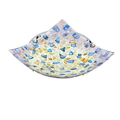 (Sheen Modern Glass Tiffany Style Ceiling Light Fixture, LED Flush Mount Ceiling lamp Bedroom Living Room Hallway Restaurant -30x30cm)