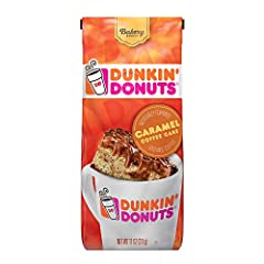 Is it dessert, breakfast, or coffee? Honestly, we're not even sure, all we know is that it's delicious. With a buttery caramel start, smooth cinnamon finish, and subtle hints of vanilla, Dunkin' Donuts Caramel Coffee Cake coffee is a treat fr...