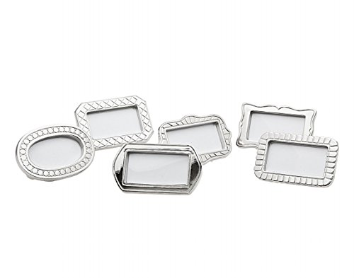 S/6 Frame Place Card Holders by -
