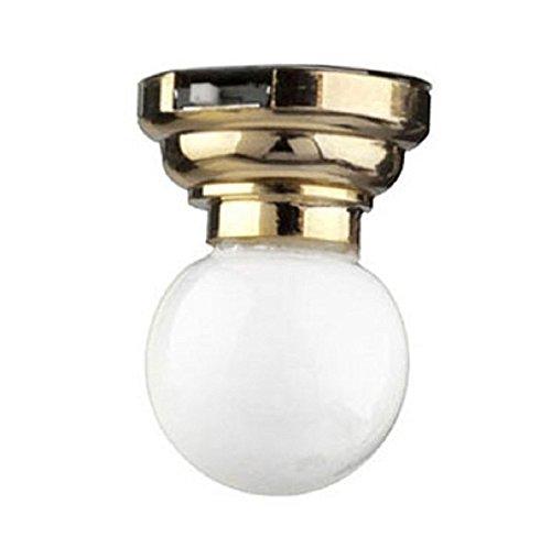 Dollhouse Miniature LED Globe Ceiling Lamp