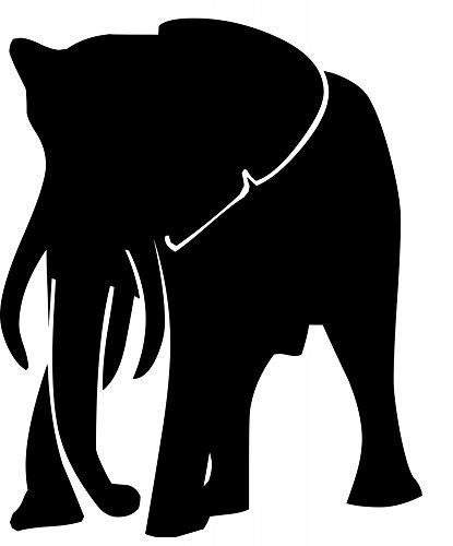 Elephant Silhouette Animals Poster Print 24x 36