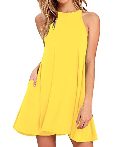 Yellow Sleeveless Dress - 6