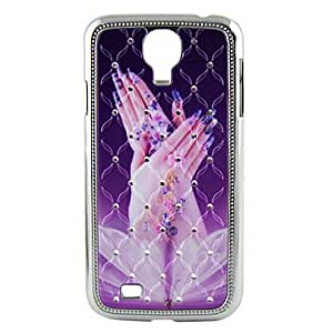 Electroplating Crystal Relief Hand Wings Pattern Hard Case for Sansung I9500