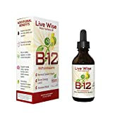 Vitamin B12 Sublingual Liquid Drops, Methylcobalamin, Vegan, 3000mcg = 60 Servings - 3000/6000mcg (2 oz. (150 Servings), No Flavor)