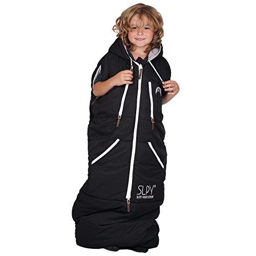 SLPY The Wearable Sleeping Bag - Kids Sleepy One Size Black by SLPY