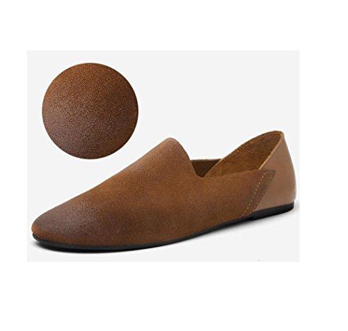 A Affari Sandali Scarpe Nastro Morbido Stivali Tela Punta Stagione Tondo Casual Brown Sportivi Colore Pelle Uomo in Tqxnp0I