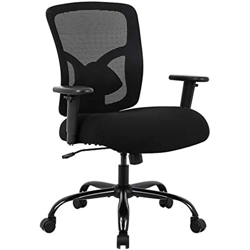 Incredible Details About Big And Tall Office Chair 400Lbs Wide Seat Cheap Desk Ergonomic Computer With Andrewgaddart Wooden Chair Designs For Living Room Andrewgaddartcom