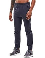 YAWHO Joggingbroek voor heren, trainingsbroek, sportbroek, sweatbroek, fitnessbroek, vrijetijdsbroek, lang met ritssluiting, zakken en trekkoord