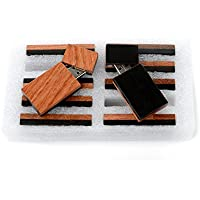 10 16GB Flash Drive - Bulk Pack - USB 2.0 Wooden Grove Design - Rosewood Front With Ebonywood Back