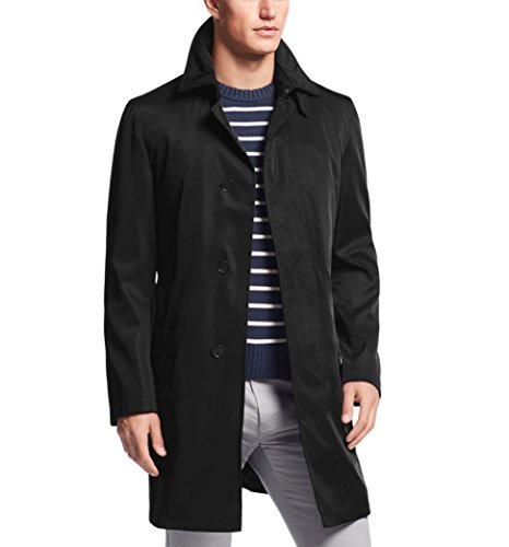 Calvin Klein Men's 36 Inch Raincoat with Removable Liner - Black (Classic Raincoat Liner)