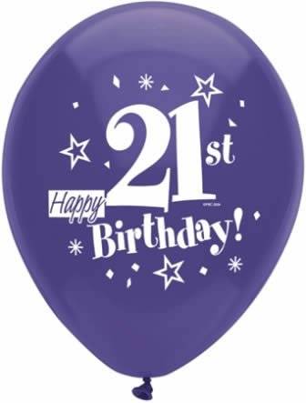 Buy Happy 21st Birthday Party Balloons 8 Count Assorted Colors Online At Low Prices In India