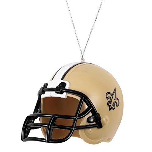 [해외]NFL 뉴 올리언스 성도 ABS 헬멧 장식 장식용 스톡 니킹 썰매 크리스마스 번들 3 팩 영원히 수집품으로/NFL New Orleans Saints ABS Helmet Ornament ORNAMENT STOCKING
