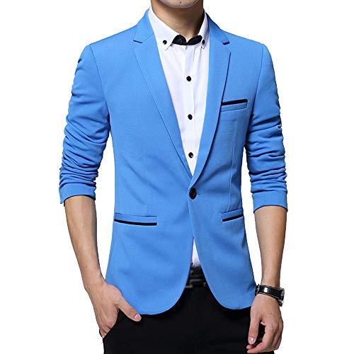 Vestes Smoking Fit Élégantes Fête S De Pour Dîner 5xl Bleu Taille Slim Blazer Costume Bozevon Homme q8Pttw
