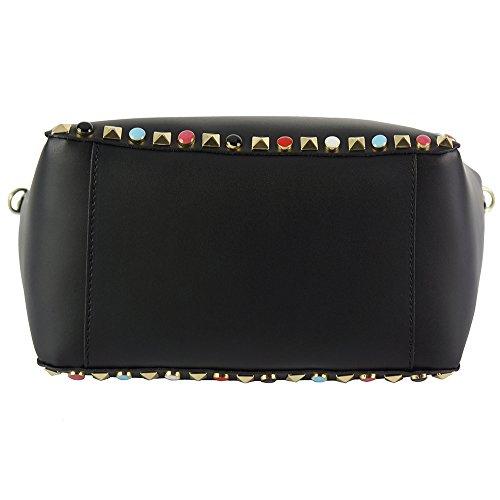 8052 With Top Italy Black Made Bag Handles Tina In Wa6cZTpc8