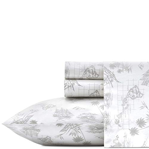 (Tommy Bahama Vintage Map Sheet Set King Grey)