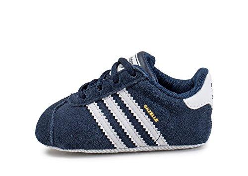 adidas Gazelle Crib, Sneakers Unisex Bebé Varios Colores (Collegiate Navy/Ftwr White/Gold Met.)