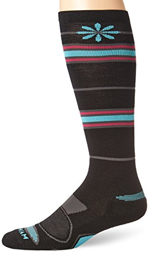 Wigwam Women's Snow Angel Merino Wool Ski Sock, Black, Medium