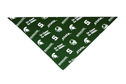 Michigan State Spartans University Dog Bandana (LARGE: 14-20 inches)