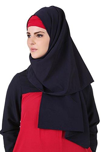 Burqa Islamischer Maxi amp; Blue Pink 495 Kashibo AY MyBatua Jilbab Abaya Kurzer fX8AqzOWw