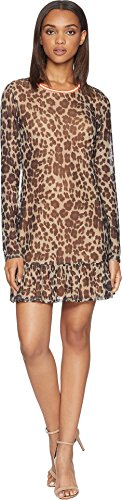 - Juicy Couture Women's Leopard Print Drop Waist Bell Sleeve Dress Multi Regent Leopard Small