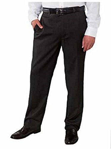 Kirkland Signature Men's 40 x 30 Wool Gabardine Flat Front Pants Charcoal