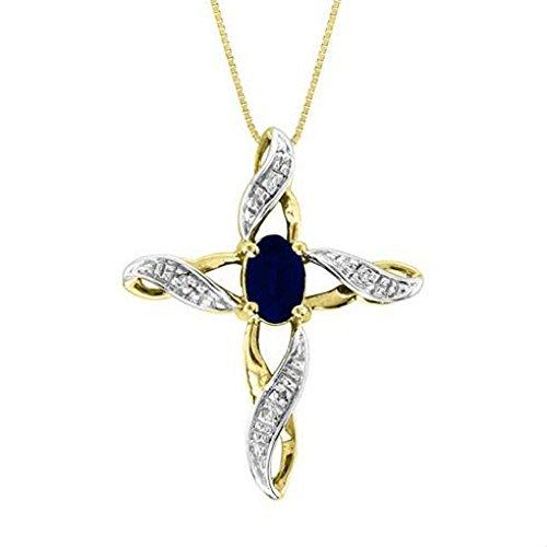 14k Gold Onyx Cross Pendant - Diamond & Onyx Cross Pendant 14K Yellow Gold or 14K White Gold