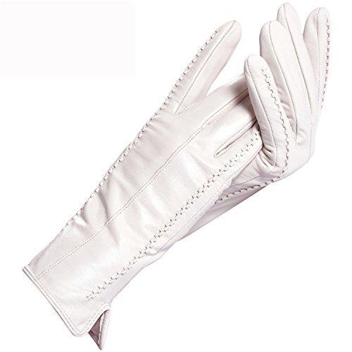 Better Annie Women's Gloves,Genuine Leather,Length 25 cm,Gra