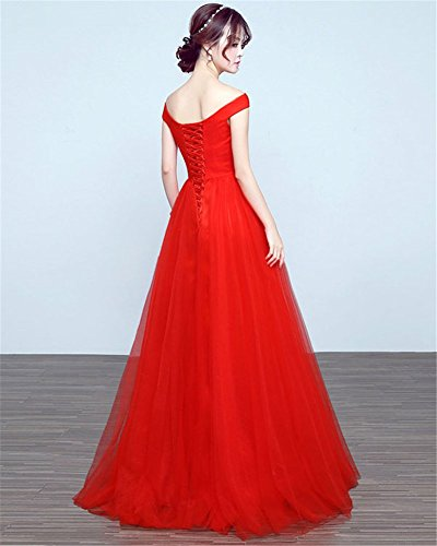 Drasawee Rot Damen Drasawee Kleid Damen Empire U1YwZ