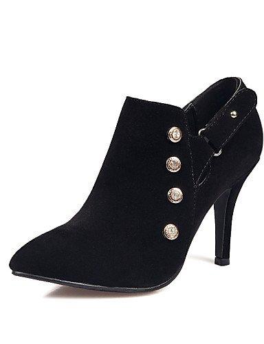 Black Vestido Zapatos Uk7 Azul us10 Uk8 Cn43 Rosa 5 Vellón Eu40 5 Mujer De Eu42 negro Casual La us9 Xzz Tacón Botas Dark Puntiagudos A Cn41 Moda Blue Stiletto Botines wP4wqf