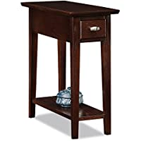 Leick Furniture Cabinet/Storage End Table, Chocolate Oak