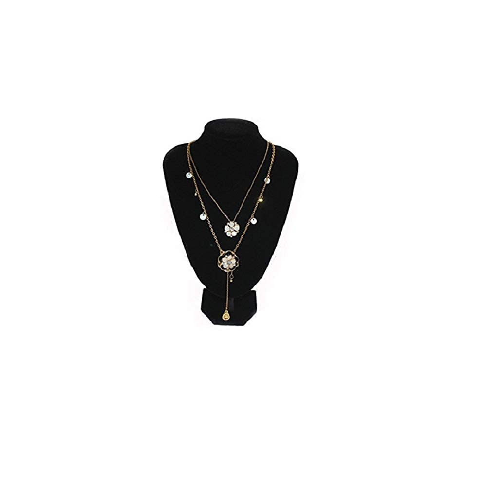 73d709a84e2 Amazon.com  Black Plush Velvet Necklace Bust Jewelry Display Stand Extra  Tall For Necklace Bust 8