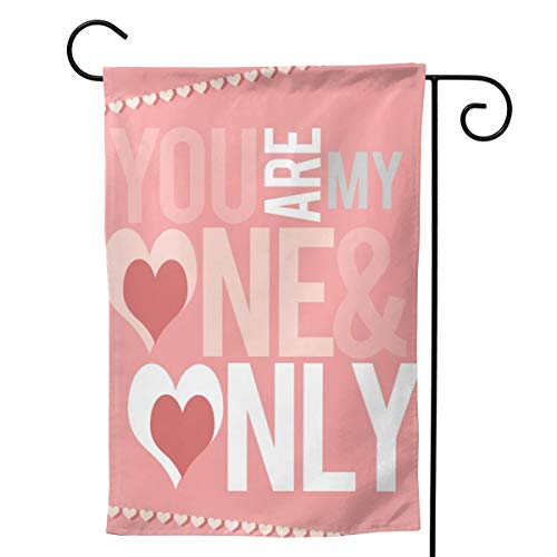 Shopaholics Store Garden Banner Two Side Prints for Balcony Valentine's Day Printable Weather-Proof and Durable All-Season Use and Stitched Edge -