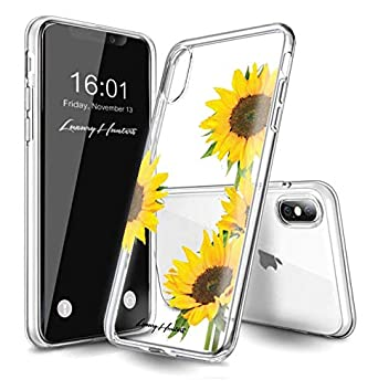 Luxuryhunters Sunflower Iphone X Case Iphone Xs Case Floral Flower Yellow Hard Plastic Case Cover For Apple Iphone X On Transparent